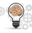 bulb and brain creative ideas vector image vector image