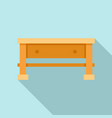 carpenter work table icon flat style vector image