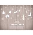 Christmas composition with snowlakes and vector image vector image
