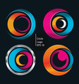 Circle shape logo o set
