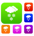 cloud and snowflakes set collection vector image