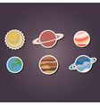 color icons with planets of the solar system vector image vector image
