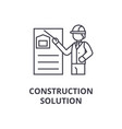 construction solution line icon sign vector image vector image