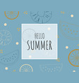 creative summer background with outline tropical vector image vector image