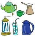 drawn colored kitchen stuff vector image vector image