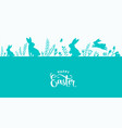 easter border design holiday vector image