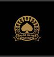 elegant luxury gold spade roulette dice gaming vector image