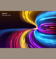fast speed lines curve for racing background vector image vector image