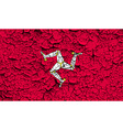 Flag Isle of man with old texture vector image