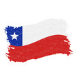 flag of chile grunge abstract brush stroke vector image vector image