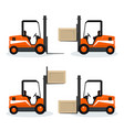 forklift truck with different cargo positions vector image vector image