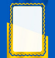 frame and border of ribbon with ukraine flag vector image