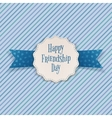 Friendship Day Emblem with greeting Text vector image vector image
