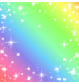 funny rainbow background vector image