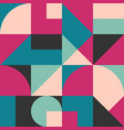 geometric simple colored seamless pattern vector image