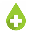 Green drop icon first aid sign vector image vector image