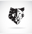 half face lion and face tiger on white vector image