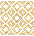 Hand drawn rhomb beige seamless pattern vector image vector image