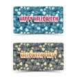 happy halloween horizontal banners vector image vector image