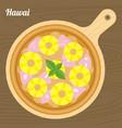 hawaii pizza vector image vector image