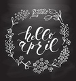 Hello April lettering typography vector image vector image