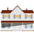 House two story vector image vector image