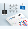 id card human resources and search people icons vector image
