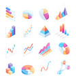infographics isometric elements icons vector image vector image