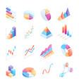 Infographics isometric elements icons