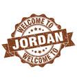 jordan round ribbon seal vector image vector image