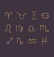 line art hand drawn zodiac symbols vector image