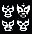lucha libre faces design luchador graphics vector image vector image