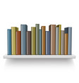 old books on shelf vector image vector image