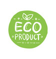 organic product icon design symbol badges vector image vector image