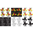 pattern seamless flowers tulips vector image vector image