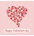 Postcard to the day of Valentine heart on a pink vector image vector image