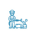 professional cleaning linear icon concept vector image vector image