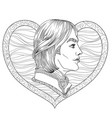 romance boy coloring page vector image vector image