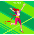 Running Winner 2016 Summer Games Isometric 3D vector image vector image