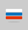 Russia flag stylized Russian Flag of geometrical vector image