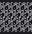 seamless pattern with black and white geometry vector image vector image