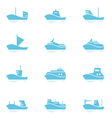 Set of ships icons vector image