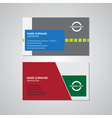 set of two business cards 35 x 2 inches vector image