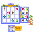 shapes game owls sudoku vector image vector image