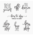 Shopping retail sale discount lettering set vector image
