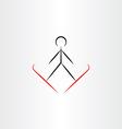 ski jump icon vector image