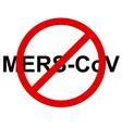 Stop Mers Corona Virus sign vector image