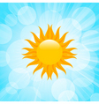 summer sun in blue sky vector image vector image