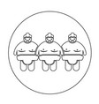 sumo wrestling people icon vector image