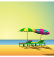 sun loungers vector image vector image